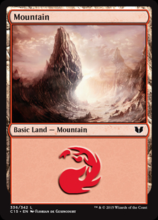 Mountain (336) card from Commander 2015