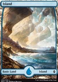 Island (255) - Full Art card from Battle for Zendikar
