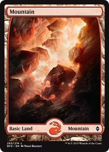 Mountain (265) - Full Art card from Battle for Zendikar