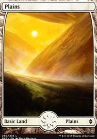 Plains (250) - Full Art card from Battle for Zendikar
