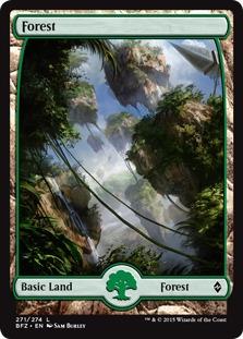 Forest (271) - Full Art card from Battle for Zendikar