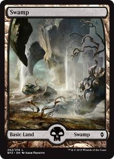 Swamp (262) - Full Art card from Battle for Zendikar