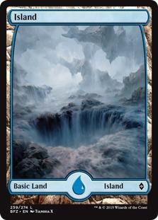 Island (259) - Full Art card from Battle for Zendikar