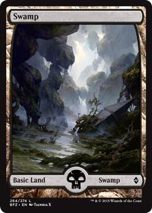 Swamp (264) - Full Art card from Battle for Zendikar