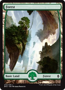 Forest (272) - Full Art card from Battle for Zendikar