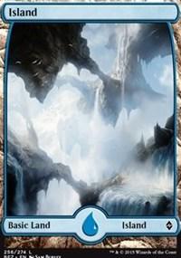 Island (256) - Full Art card from Battle for Zendikar