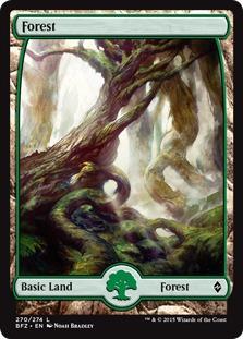 Forest (270) - Full Art card from Battle for Zendikar