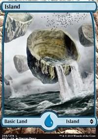 Island (258) - Full Art card from Battle for Zendikar