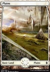 Plains (253) - Full Art card from Battle for Zendikar