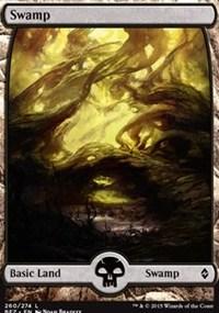 Swamp (260) - Full Art card from Battle for Zendikar