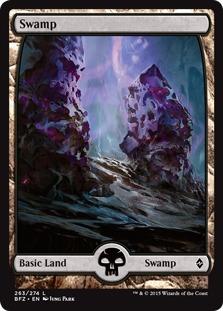 Swamp (263) - Full Art card from Battle for Zendikar