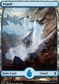 Island (257) - Full Art card from Battle for Zendikar