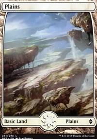 Plains (251) - Full Art card from Battle for Zendikar