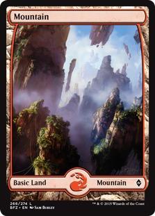Mountain (266) - Full Art card from Battle for Zendikar