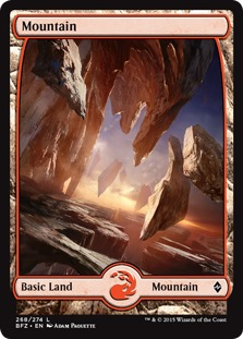 Mountain (268) - Full Art card from Battle for Zendikar