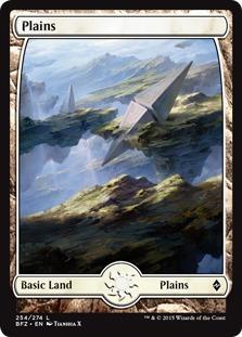 Plains (254) - Full Art card from Battle for Zendikar