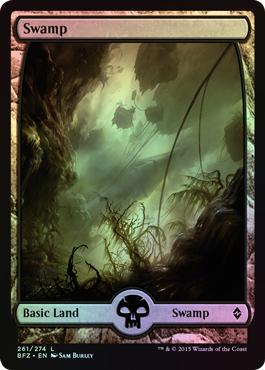 Swamp (261) - Full Art card from Battle for Zendikar