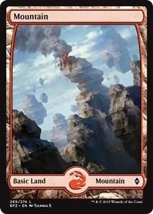 Mountain (269) - Full Art card from Battle for Zendikar