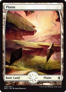Plains (252) - Full Art card from Battle for Zendikar
