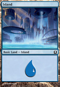 Island (255) card from Return to Ravnica
