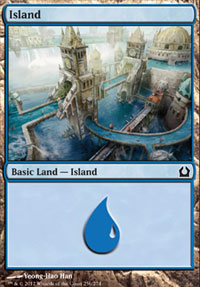 Island (256) card from Return to Ravnica