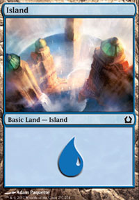 Island (257) card from Return to Ravnica