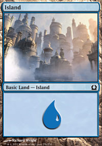 Island (258) card from Return to Ravnica