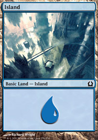 Island (259) card from Return to Ravnica