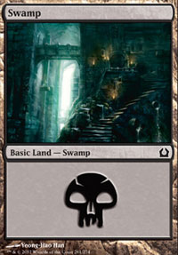 Swamp (261) card from Return to Ravnica