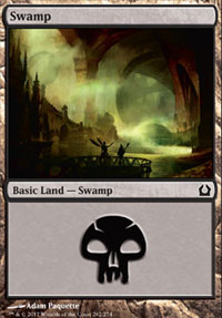 Swamp (262) card from Return to Ravnica
