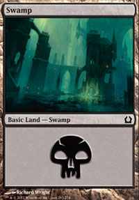 Swamp (263) card from Return to Ravnica