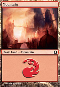 Mountain (267) card from Return to Ravnica