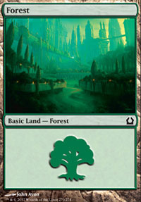 Forest (270) card from Return to Ravnica