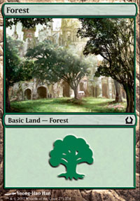 Forest (271) card from Return to Ravnica