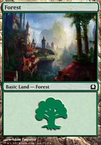 Forest (272) card from Return to Ravnica