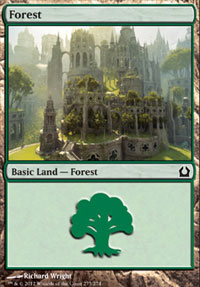 Forest (273) card from Return to Ravnica