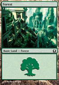 Forest (274) card from Return to Ravnica