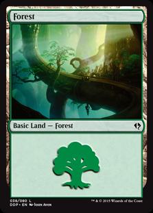 Forest (38) card from Duel Decks: Zendikar vs. Eldrazi