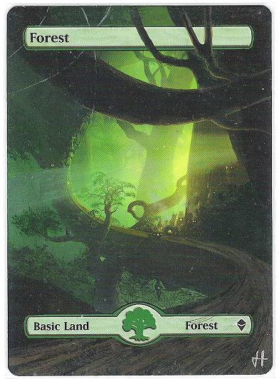 Forest (246) - Full Art card from Zendikar