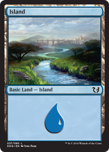 Island (37) card from Duel Decks: Blessed vs. Cursed