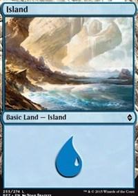 Island (255) card from Battle for Zendikar