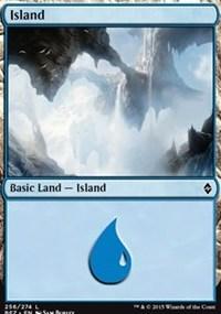 Island (256) card from Battle for Zendikar