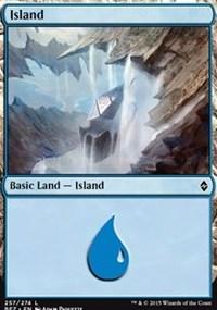 Island (257) card from Battle for Zendikar