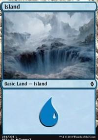 Island (259) card from Battle for Zendikar
