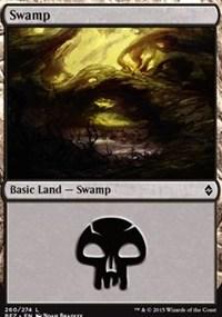 Swamp (260) card from Battle for Zendikar
