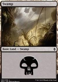 Swamp (261) card from Battle for Zendikar