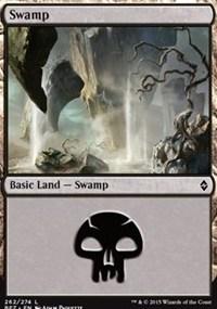 Swamp (262) card from Battle for Zendikar
