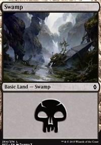 Swamp (264) card from Battle for Zendikar