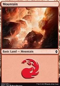 Mountain (265) card from Battle for Zendikar