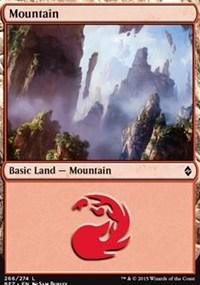 Mountain (266) card from Battle for Zendikar